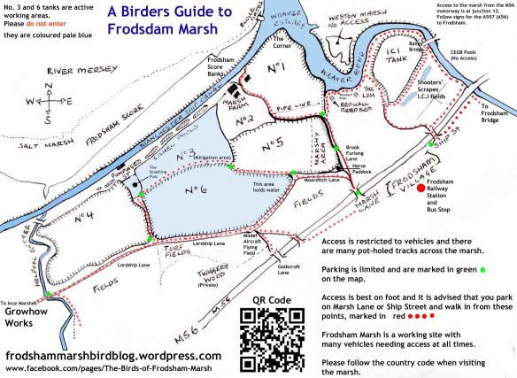 Frodsham Marsh map. Updated Feb'15