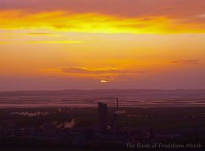 10.05.13. Sunsetting over Stanlow Oil Refinery. Bill Morton.