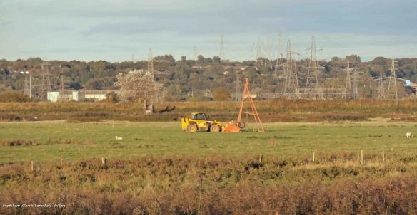 05.10.13. Bore-hole drilling on No 5 tank. Frodsham Marsh. Bill Morton.