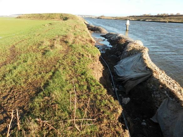22.12.13. Tidal damage at Ince Marshes, Dermot Smith.