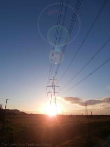 19.01.14. Pylons on Frodsham Marsh. Bill Morton.