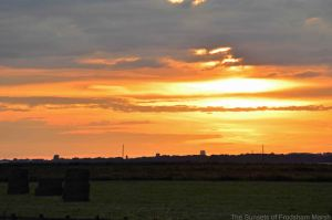 15.07.14. Sunset over No.1 tank, Frodsham Marsh. Bill Morton