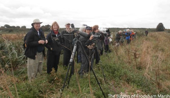 30.08.14. Wirral RSPB members, Frodsham Marsh. Bill Morton