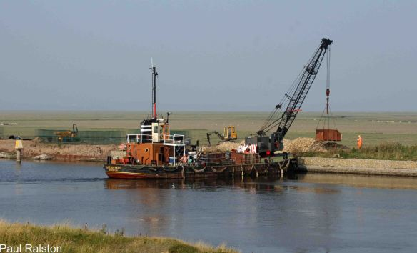 11.09.14. Work on repairing the canal wall. Paul Ralston