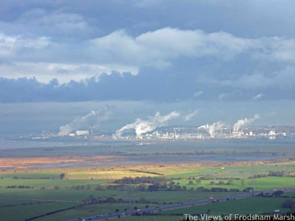 18.01.15. Frodsham Marsh from Helsby Hill. Bill Morton