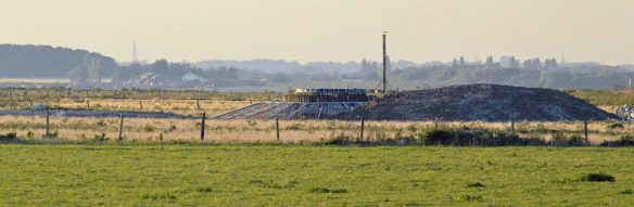 01.10.15. Wind Farm turbine bases, No.1 tank, Frodsham Marsh. Bill Morton (2)