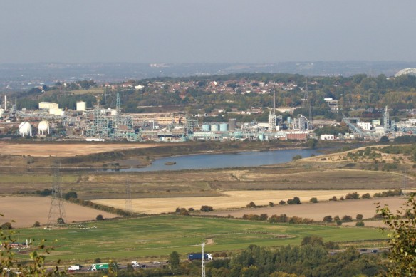 02.10.15. Frodsham Marsh from Frodsham Hill. Tony Broome (5)