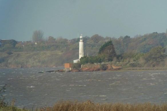 12.11.15. Hale lighthouse from Frodsham Marsh. Tony Broome