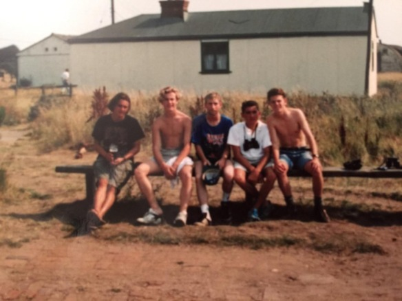 Allan Conlin (2nd from Right) et al, Spurn Observatory 1990 (aged 18).