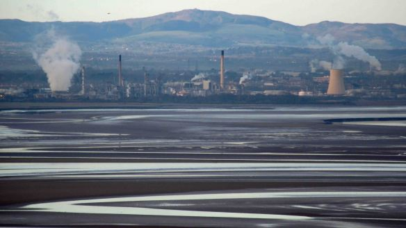 24.02.16. View of the Mersey Estuary from Runcorn Hill. Bill Morton
