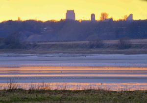 10.03.16. Sunset over the Mersey Estuary from Marsh Farm, Frodsham Marsh. Bill Morton (9)