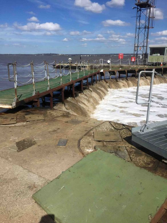 10.04.16. Eastham locks breached by high tide, Cheshire. Shaun Hickey (1)