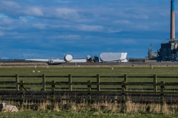 16.04.16. Wind turbine blades, No.1 tank, Frodsham Marsh. Paul Crawley (2)