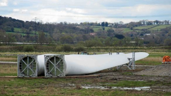 16.04.16. Wind turbine blades, No.5 tank, Frodsham Marsh. Bill Morton (7)