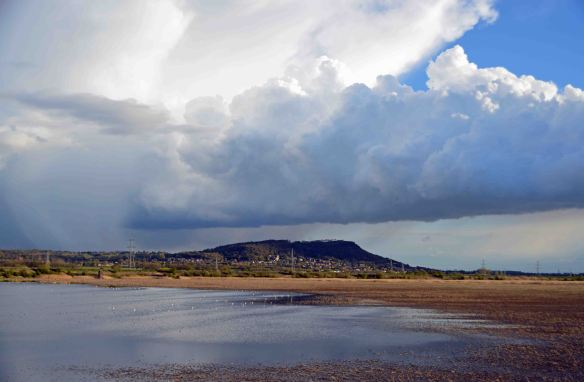 26.04.16. Storm over No.6 tank and Frodsham and Helsby Hill, Frodsham Marsh. Bill Morton (20)