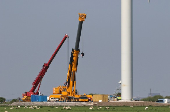 12.05.16. Wind Turbine, No.1 tank construction, Frodsham Marsh.Tony Broome (4)