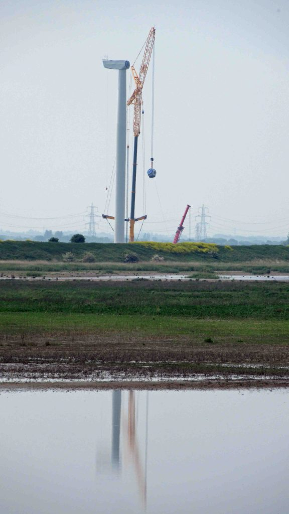 28.05.16. 5th turbine on Lordship Marsh from No.6 tank, Frodsham Marsh. Bill Morton (5)