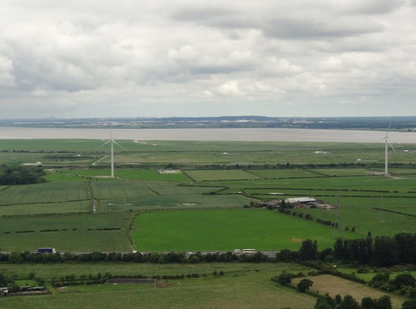 18.06.16. Frodsham Marshe Wind Farm as from Helsby Hill. Tony Broome (2)