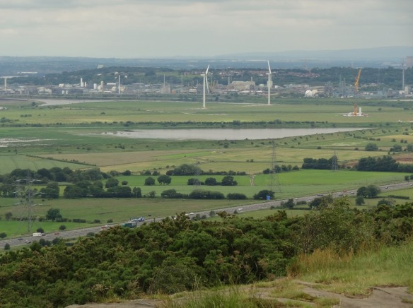 18.06.16. Frodsham Marshe Wind Farm as from Helsby Hill. Tony Broome (6)