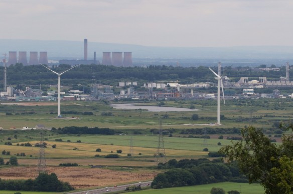 18.06.16. Frodsham Marshe Wind Farm from Helsby Hill. Tony Broome (3)