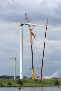 24.06.16. Wind turbine installation, No.5 tank, frodsham Marsh. Paul Ralston (1)
